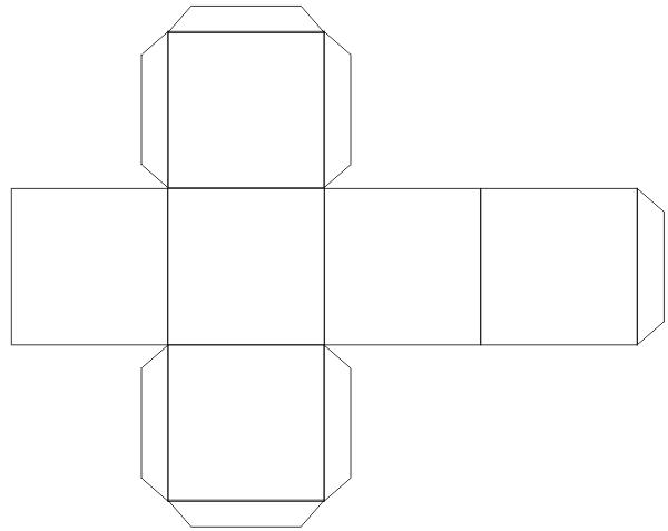 Как сделать куб из бумаги в картинках