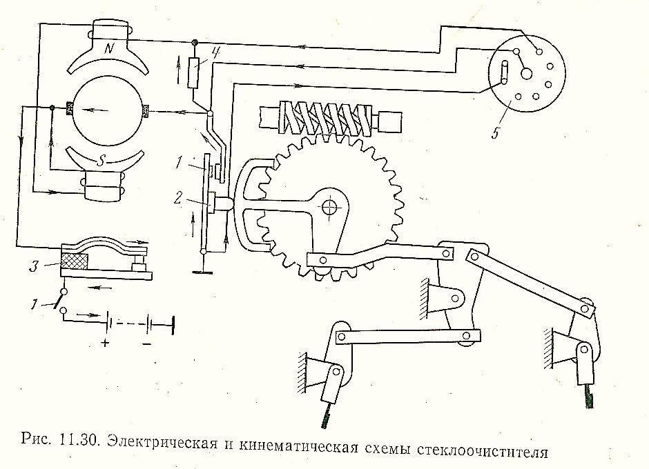 Схема включения мотора дворников