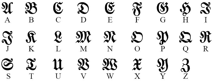 Готический Русский Шрифт Для Word