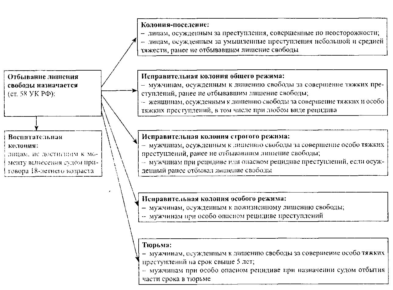 Статус осужденного образуют следующие элементы