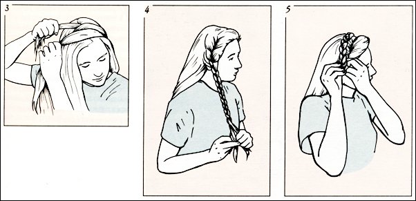 Плетение косы ободок схема