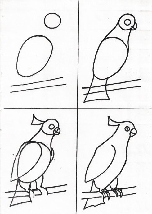 Поэтапное рисование в 1 классе на уроке